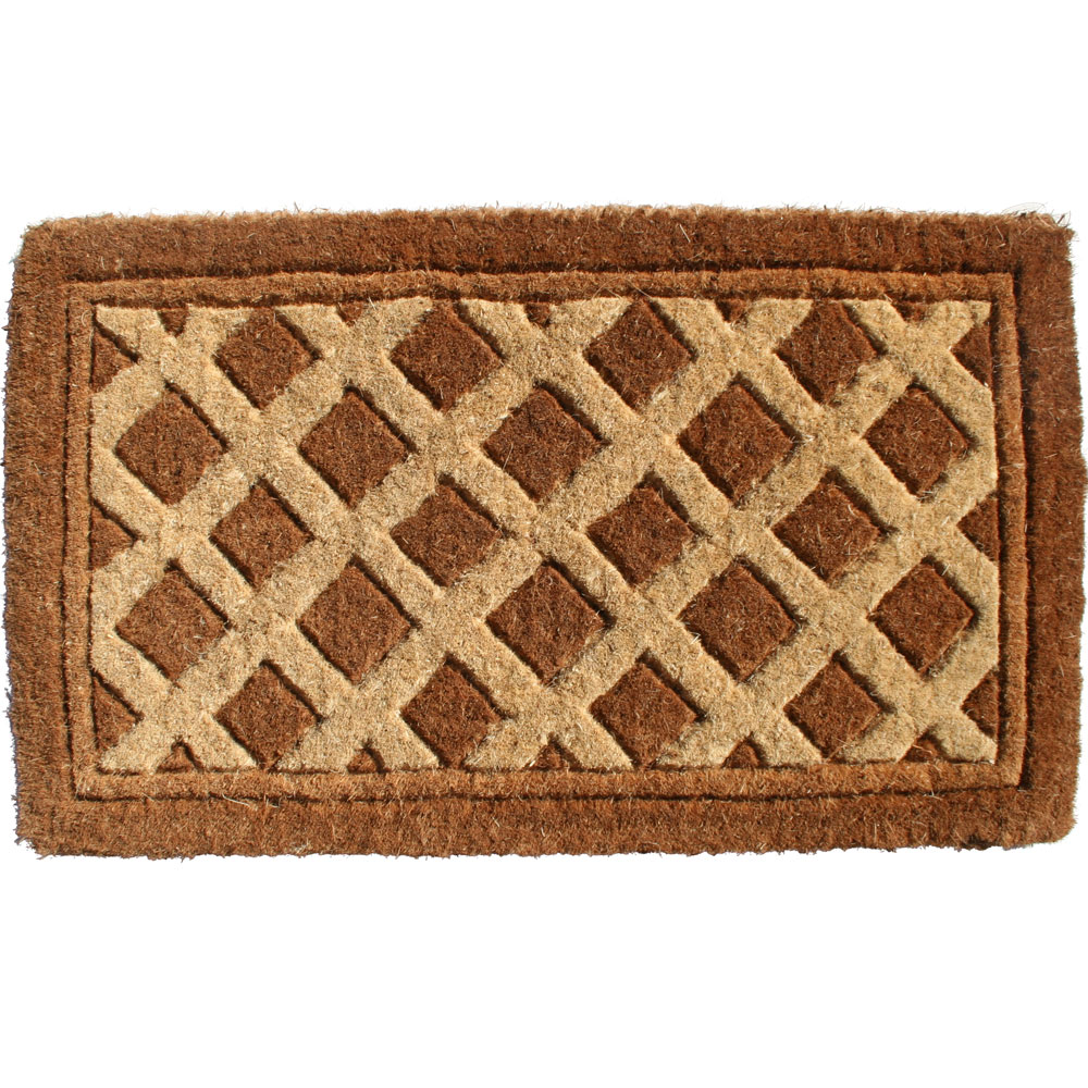 Decorative Coir Doormat   Diamonds Image