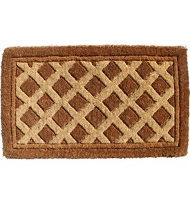 Decorative Coir Doormat - Diamonds Image