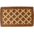 Decorative Coir Doormat - Diamonds