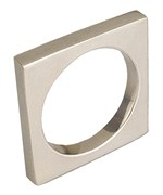 Decorative Square Napkin Ring - Silver