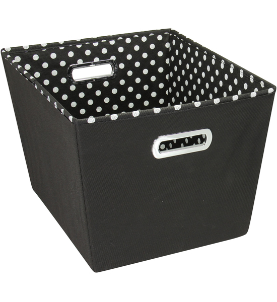 Captivating Decorative Storage Bin   Black Image