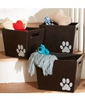 Decorative Storage Bin - Paw Print