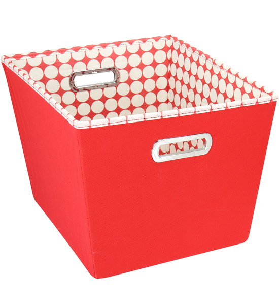 Decorative Storage Bin Red Image
