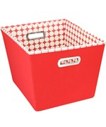 Decorative Storage Bin - Red