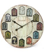 Decorative Wall Clock - Weathered Plank