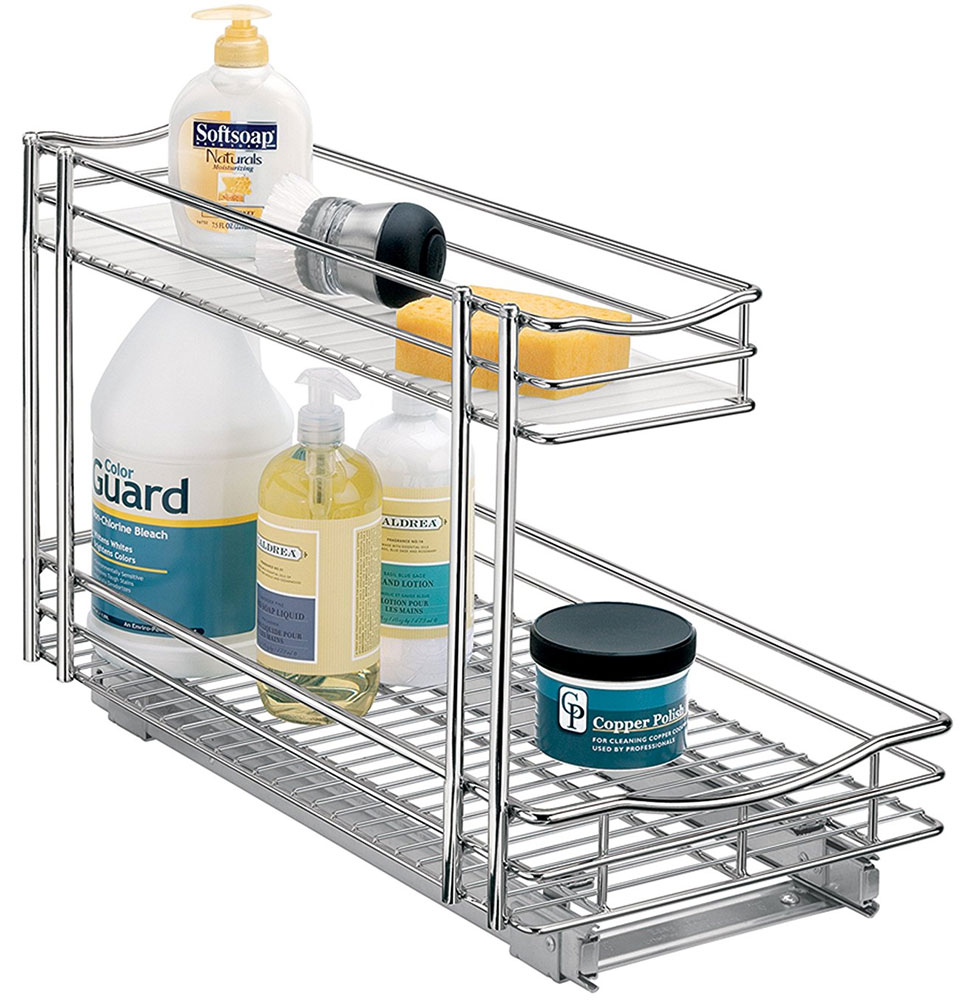 Deep Pull Out Under Sink Organizer Chrome In Pull Out