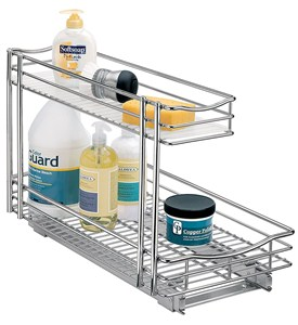 Deep Pull-Out Under Sink Organizer - Chrome Image