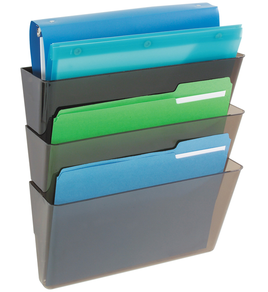 Deflecto Stackable Wall File Pockets Image