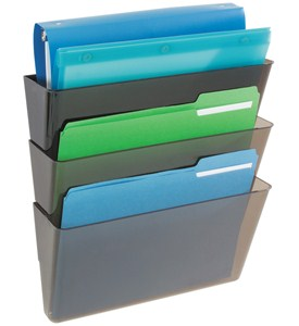Deflecto Stackable Wall File Pockets Image
