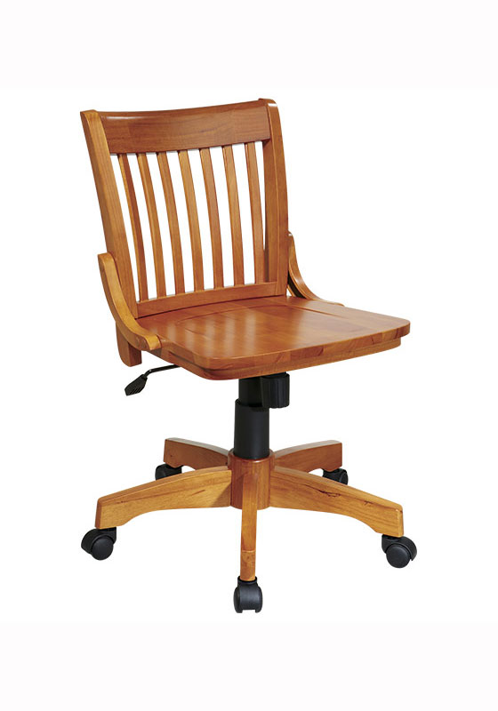 Deluxe armless wood bankers chair by office star in for Armless office chairs
