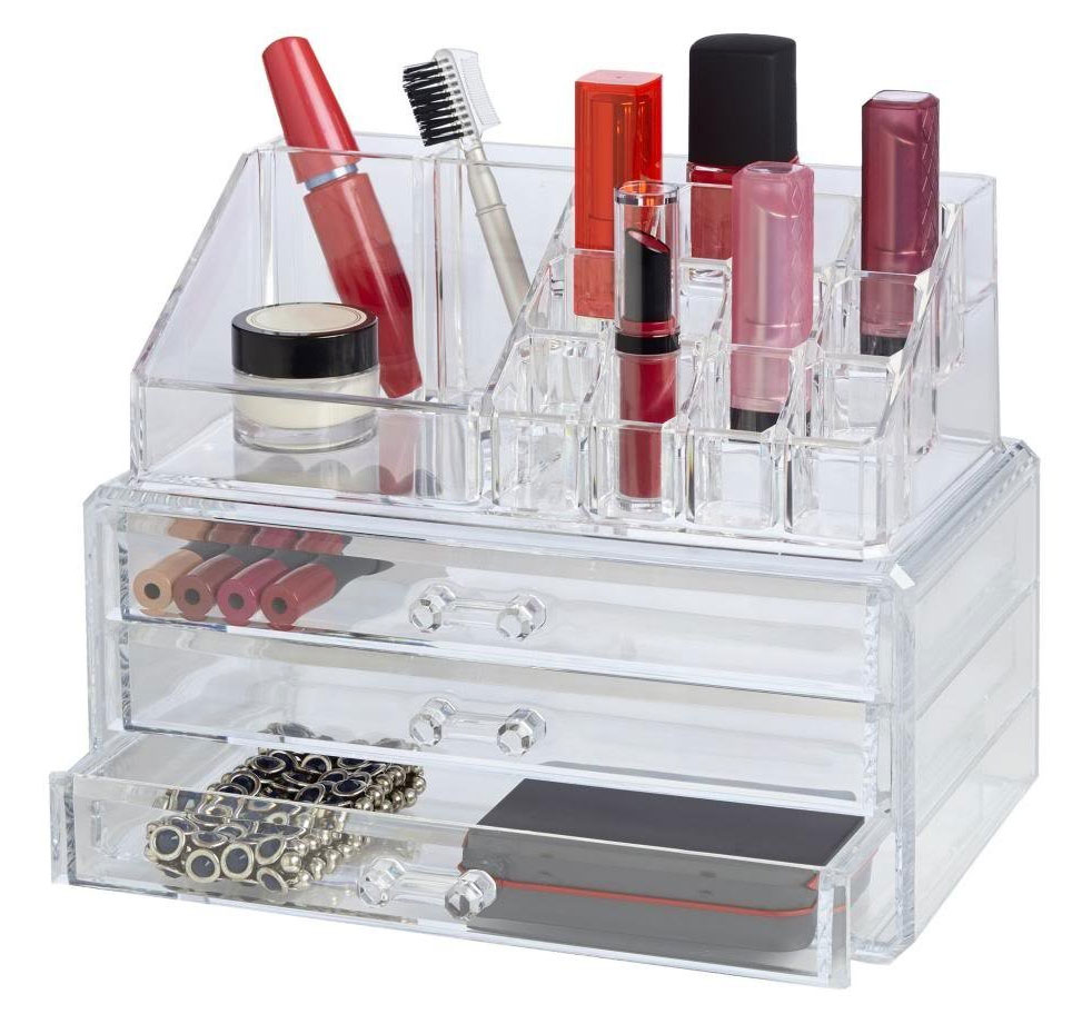 Deluxe Cosmetic Set With Drawers In Cosmetic Organizers