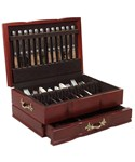 Deluxe Flatware Organizer - Cherry Wood