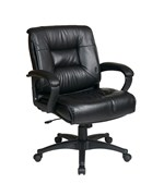 Deluxe Mid Back Executive Glove Soft Leather Chair by Office Star