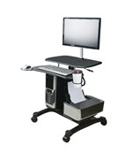 Deluxe Mobile LCD Workstation by Aidata