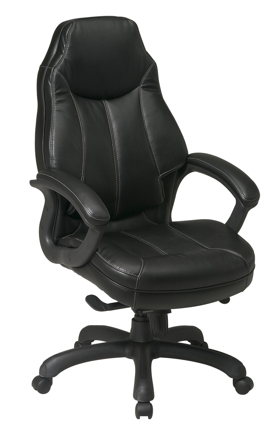 Deluxe Oversized Executive Faux Leather Chair With Padded