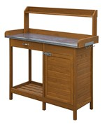 Deluxe Potting Bench with Cabinet