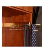 Deluxe Sliding Tie Rack - Polished Brass