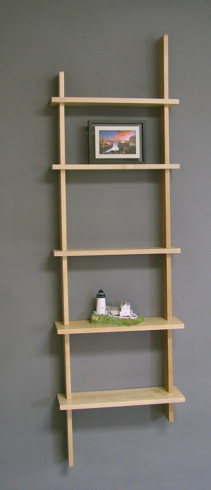 Deluxe Vertical Five Shelf Wall Unit By Woodform In Wall