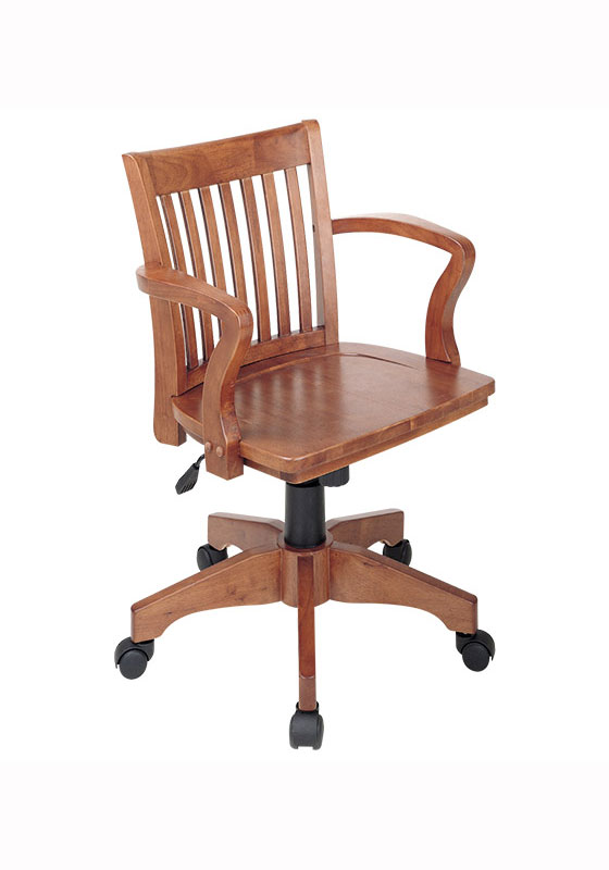 deluxe wood bankers chair by office star in office chairs