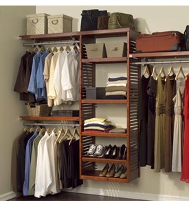Deluxe Wood Closet System Image