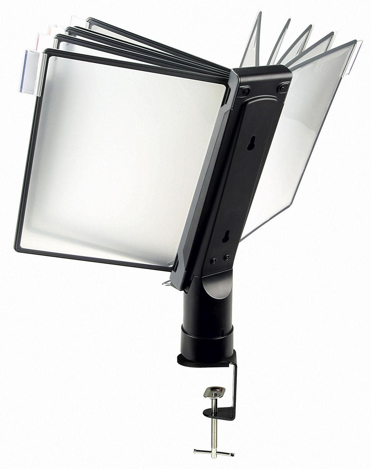 desk clamp document holder in desktop organizers With document hanger