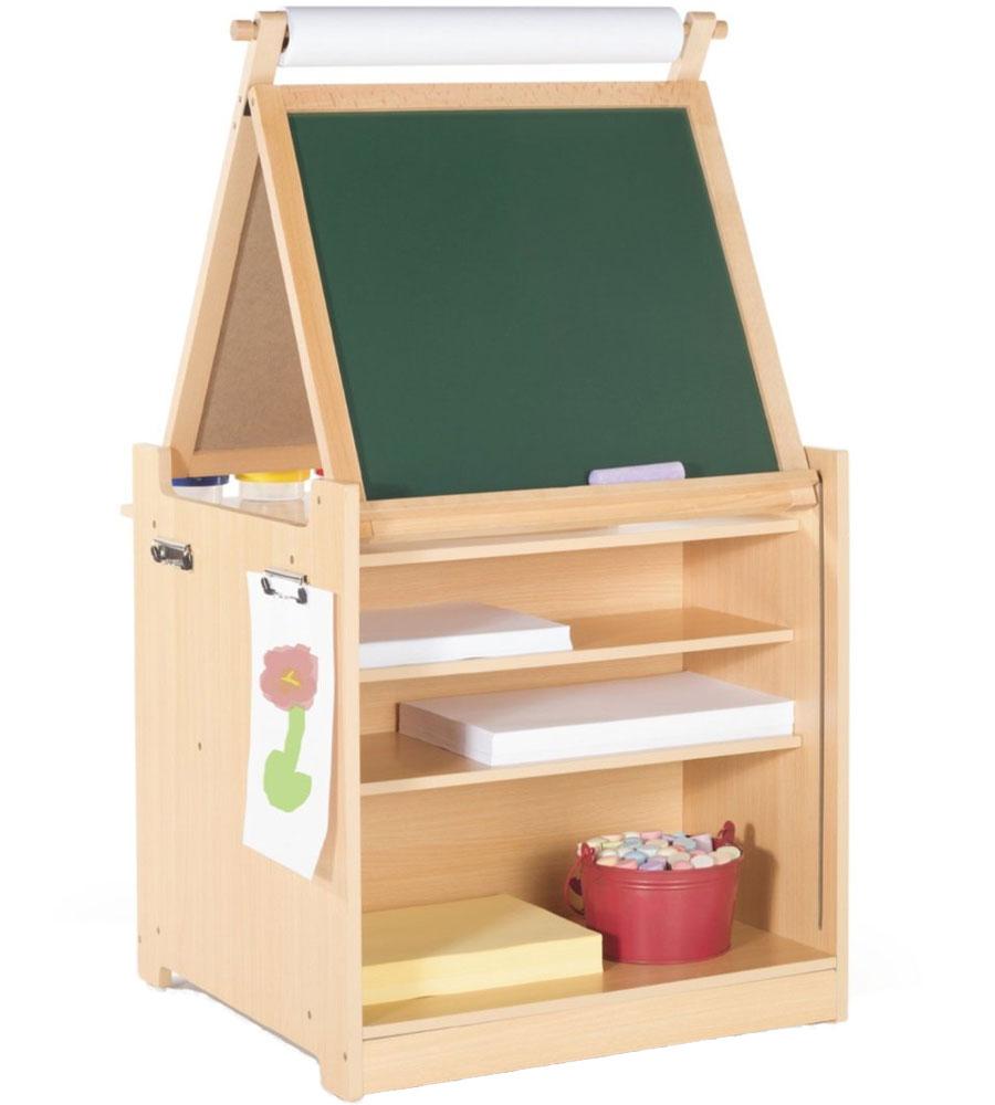 Desk to Easel Art Cart in Kids Desks