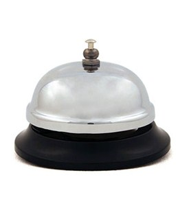 Retro Stainless Steel Desk Bell Image
