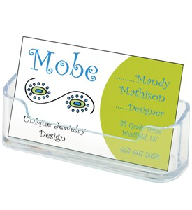 Desktop Business Card Holder - Clear Image