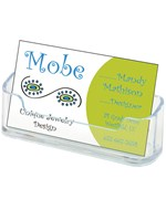 Desktop Business Card Holder - Clear