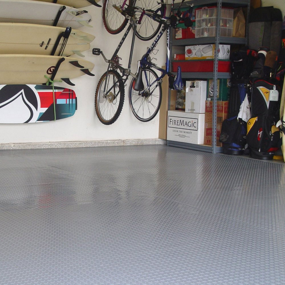 1 car garage floor mat diamond deck image