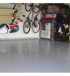 1 Car Garage Floor Mat - Diamond Deck Image