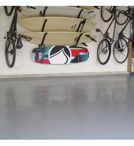 2 Car Garage Floor Mat - Diamond Deck Image