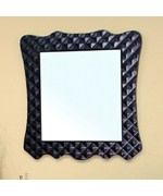 Diamond Grid Solid Wood Frame Mirror by Bellaterra Home