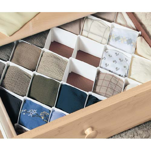 Diamond Drawer Divider In Closet Drawer Organizers