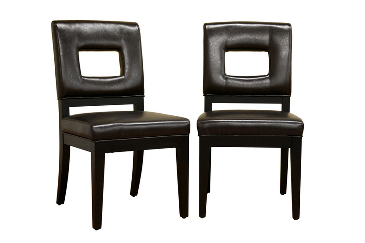Modern Leather Dining Chairs Set Of 2 In Dining Chairs