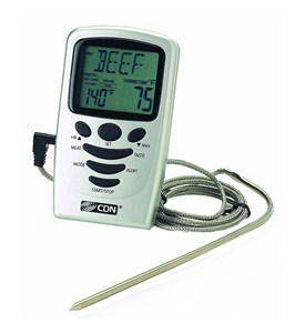 Digital Probe Thermometer with Timer Image