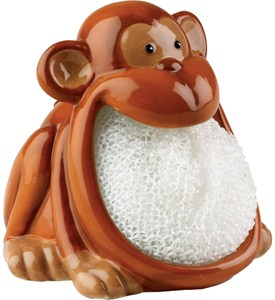 Dish Scrubber Holder - Monkey Image