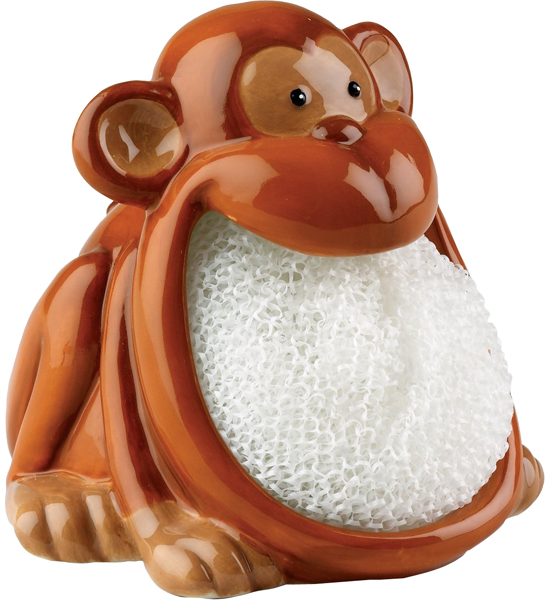 Casabella Cleaning Gloves New · Dish Scrubber Holder   Monkey ...