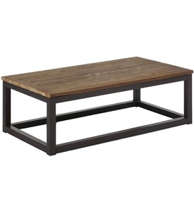 Distressed Wood Coffee Table Image