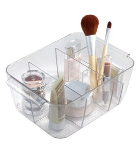 Divided Cosmetic Organizer Bin Image