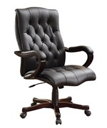 Executive Office Chair - Black Leather
