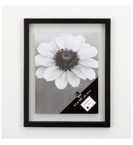 Floating Document or Picture Frame - Black Image