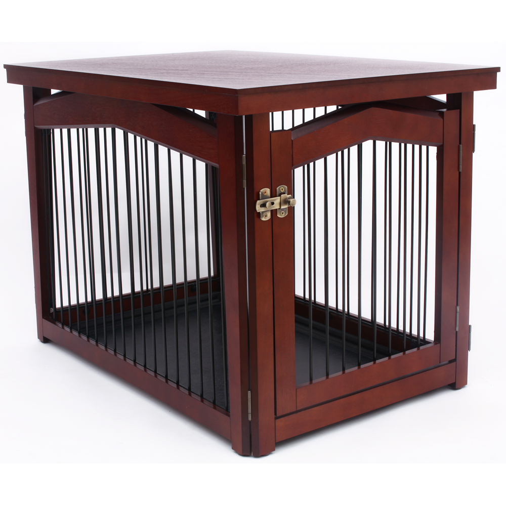 dog crate table pet gate in pet pens With dog crate gate