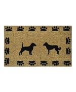 Dog with Paws Door Mat by Imports Decor