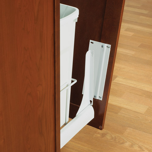 Slide-Out Door Brackets - White Image & Slide-Out Door Brackets - White in Cabinet Trash Cans Pezcame.Com