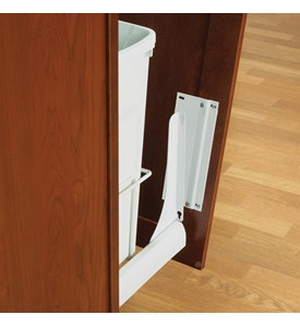 Slide-Out Door Brackets - White Image