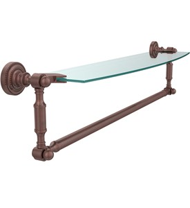 Dottingham Beveled Glass Shelf and Towel Bar-24 In Image