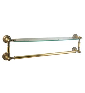 Dottingham Beveled Glass Shelf and Towel Bar-18 In Image