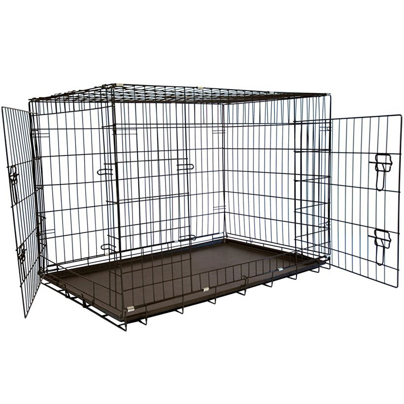 Double door dog crate in pet pens for Double door with dog door