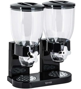 Double Food Dispensing Canister - Black Image